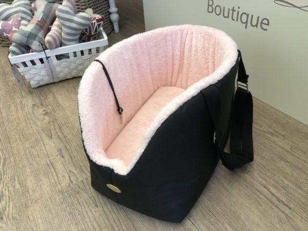 Hundetasche schwarz rosa